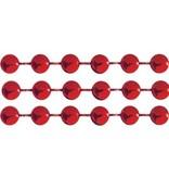 DEKOBAND / RIBBONS / RUBANS ... Grandes perlas, 4 mm, de color rojo, por por metro