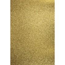 A4 Bastelkarton: Glitter, gold