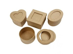 Objekten zum Dekorieren / objects for decorating Passepartout-boxes, D: 7,5 cm, 4 different