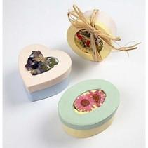 Passepartout-Schachteln, D: 7,5 cm, 4 verschiedene