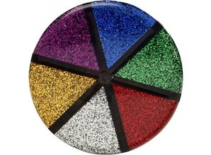 BASTELZUBEHÖR / CRAFT ACCESSORIES Glitter sortiment, 6x13 g