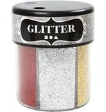 BASTELZUBEHÖR / CRAFT ACCESSORIES Glitter Assortment, 6x13 g