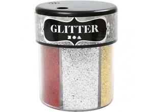 BASTELZUBEHÖR / CRAFT ACCESSORIES Glitter Assortment, 6x13 g