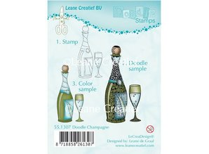 Leane Creatief - Lea'bilities Transparent stamps, Doodle Champagne