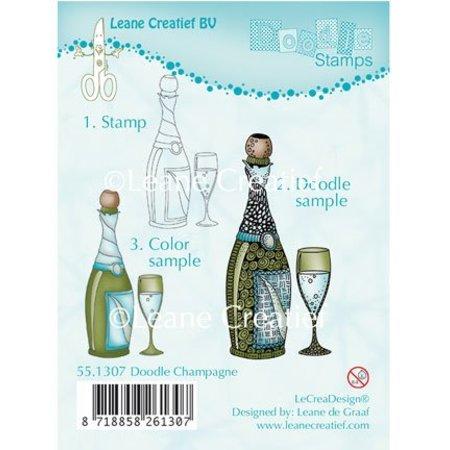 Leane Creatief - Lea'bilities Transparent Stempel, Doodle Champagne