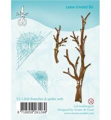 Leane Creatief - Lea'bilities I timbri trasparenti, rami e Spinnewebe
