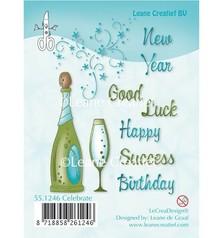Leane Creatief - Lea'bilities I timbri trasparenti, celebrazione, champagne, champagne