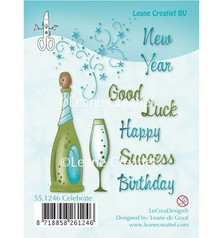 Leane Creatief - Lea'bilities Transparent stamps, Celebration, Champagne, Champagne