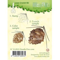 Transparent stamps, pine cones