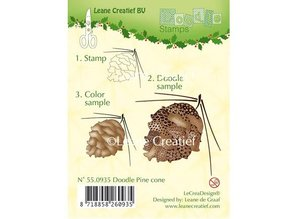Leane Creatief - Lea'bilities Transparent stamps, pine cones