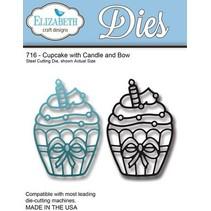 Stampen en Embossing stencil: Cupcake