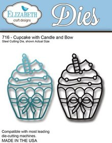 Elisabeth Craft Dies Stamping and Embossing stencil: Cupcake