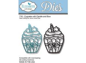 Elisabeth Craft Dies Stempling og prægning stencil: Cupcake