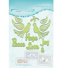 Leane Creatief - Lea'bilities Cutting and embossing stencils Lea'bilitie, 2 birds