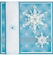 Leane Creatief - Lea'bilities Stamping and embossing stencils, Lea'bilities, ice crystals