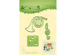 Leane Creatief - Lea'bilities Cutting and embossing stencils Lea'bilitie, musical instrument