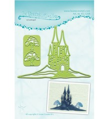 Leane Creatief - Lea'bilities Cutting and embossing stencils Lea'bilitie, landscape with Burgt
