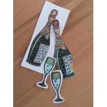 Transparante stempels, Doodle Champagne