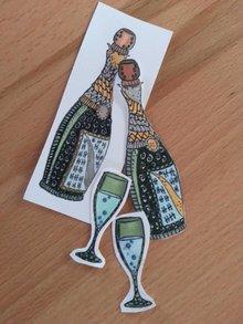 Leane Creatief - Lea'bilities Gennemsigtige frimærker, Doodle Champagne
