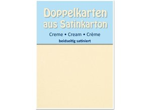KARTEN und Zubehör / Cards 5 Satin doppie carte A6, crema, raso su entrambi i lati