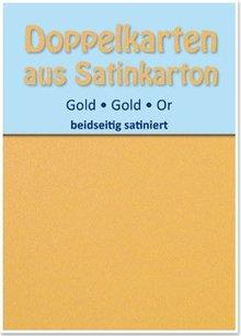 KARTEN und Zubehör / Cards 10 Satin double cards A6, gold, satin on both sides
