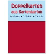 10 dobbeltværelser kort A6, mørk rød, 250 g / kvm