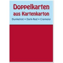 10 double cards A6, dark red, 250 g / sqm