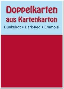 KARTEN und Zubehör / Cards 10 carte doppie A6, rosso scuro, 250 g / mq