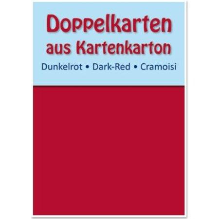 KARTEN und Zubehör / Cards 10 dubbele kaarten A6, donkerrood, 250 g / m²