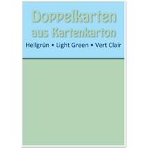 10 dobbeltværelser kort A6, lys grøn, 250 g / kvm