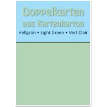 10 tarjetas dobles A6, verde claro, de 250 g / m²