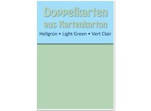 KARTEN und Zubehör / Cards 10 tarjetas dobles A6, verde claro, de 250 g / m²