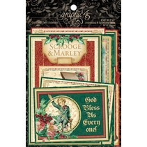 NEU Graphic 45 A Christmas Carol Ephemera Cards