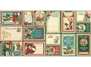 Graphic 45 NUEVO Gráfico 45 A Christmas Carol Ephemera Tarjetas