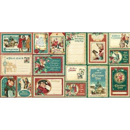 Graphic 45 NEW Graphic 45 A Christmas Carol Ephemera Cards