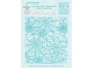 Leane Creatief - Lea'bilities Embossing Folder: Spinnewebe pattern