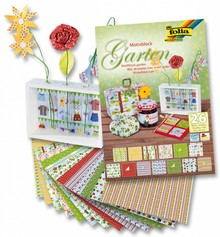 DESIGNER BLÖCKE  / DESIGNER PAPER Motifblock Garden, 24x34cm, 26 sheet