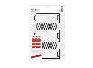 X-Cut / Docrafts A4 punch template (1pc), Geschenkschachtel: Christmas crackers