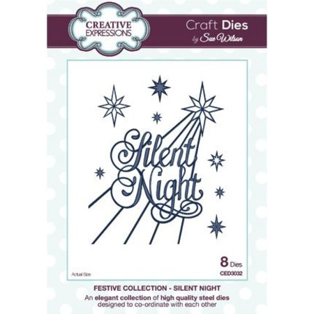 Creative Expressions Kreative udtryk, The Festlig Collection, Silent Night