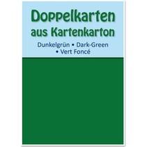 10 dobbeltværelser kort A6, mørk grøn, 250 g / kvm