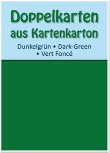 KARTEN und Zubehör / Cards 10 double cards A6, dark green, 250 g / sqm