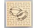 Stempel / Stamp: Holz / Wood Træ tempel ringe med underskrift, 60 x 60 mm