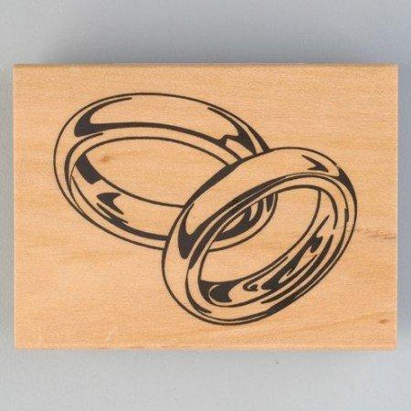Stempel Stamp Holz Wood Holzstempel Hochzeitsringe 40 X 60 Mm