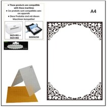 A4 embossing mappen: ovaal frame
