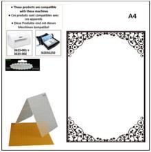 embossing Präge Folder cartelle di goffratura A4: cornice ovale