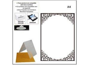 embossing Präge Folder A4 prægning mapper: oval ramme