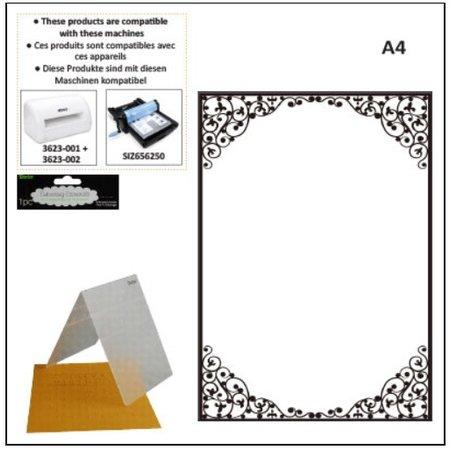 embossing Präge Folder carpetas de grabación en relieve A4: Marco oval