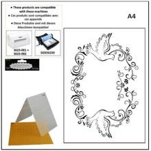 embossing Präge Folder A4 embossing folders: decorative frame