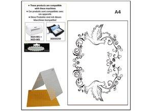 embossing Präge Folder A4 Prägefolder: Zierrahmen