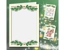 KARTEN und Zubehör / Cards 5 double cards A6, Passepartout - Christmas cards, embossed cream